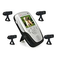 2,4 GHz 2,5 inch vier kanaals mp4 babyfoon met 4x oplaadbare Li-batterij camera