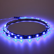 luzes do carro decorativa 5050-90cm (azul)