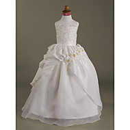 A-line/Ball Gown Floor-length Flower Girl Dress - Organza/Taffeta Sleeveless