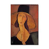 gerilmiş çerçeve ile Modigliani tarafından büyük hat071 el boyaması yağlıboya jeanne Hebuterne