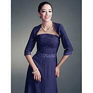 Wedding / Party/Evening Chiffon Coats/Jackets 3/4-Length Sleeve Wedding  Wraps