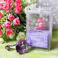 """""""Med denna ring"""" förlovningsring nyckelring (lila)"""