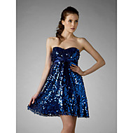 TS Couture® Cocktail Party / Sweet 16 / Holiday Dress - Sparkle & Shine Plus Size / Petite A-line / Princess Strapless / Sweetheart Short / Mini