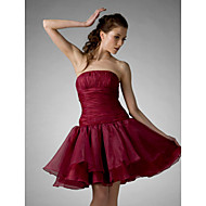 TS Couture® Cocktail Party / Prom / Sweet 16 / Holiday Dress - Short Plus Size / Petite A-line / Ball Gown / Princess Strapless Knee-length Organza