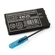 3.7V 850mAh batería recargable Li-ion para Nintendo DS NDS con un destornillador