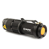 LED Flashlight / Torch FX SK68 1-Mode CREE XR-E Q5 (200LM, 1xAA/1x14500, Black)