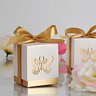 Gold-Laser-Cut-Schmetterling zugunsten Box (Satz von 12)