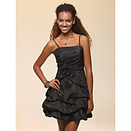 TS Couture® Cocktail Party / Sweet 16 / Wedding Party / Holiday Dress - Black Plus Sizes / Petite A-line / Ball Gown Spaghetti Straps Short/Mini