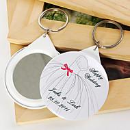 personlig spegel nyckelring - brudklänning (sats om 12)