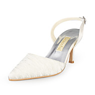 Satin Upper Stiletto Heel Slingbacks With Ruched Wedding Shoes More Colors Available
