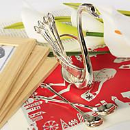 cisne cucharas conjunto (6 piezas)