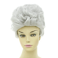 Capless Short Heat-resistant Fashion White Costume Party Wig