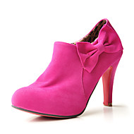 Suede Upper Chunky Heel Ankle Boots With Bowknot Party/ Evening Shoes More Colors Available