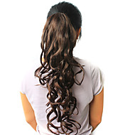 "High Quality Synthetic 22.44"" Curly Dark Brown Ponytail"