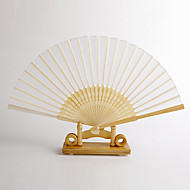 witte bamboe de hand ventilator (set van 4)