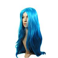korkiton korkealaatuinen synteettinen pitkä sininen puku osapuoli peruukki