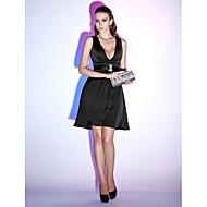 Cocktail Party / Holiday Dress - Black Plus Sizes / Petite A-line / Princess V-neck Short/Mini Chiffon
