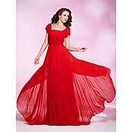 Prom/Military Ball/Formal Evening Dress - Ruby Plus Sizes Sheath/Column Square Floor-length Chiffon