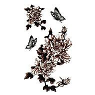5 szt kwiat wodoodporny tymczasowy tatuaż (17.5cm 10cm *)