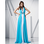 TS Couture® Prom / Formal Evening / Military Ball Dress - Open Back Plus Size / Petite Sheath / Column V-neck Sweep / Brush Train Chiffon with Beading