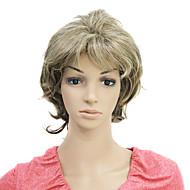 capless kort krøllete syntetisk hår parykk