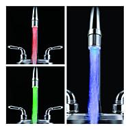 Stylish Water Powered Kitchen LED Faucet Light (Plastic, Chrome Finish)