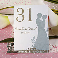 장소 카드 홀더 개인 테이블 번호 카드 - 연인 (10 세트)