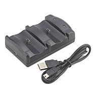 Dubbele USB oplaadstation voor PS3 draadloze controller (zwart)