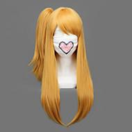Pelucas de Cosplay Fairy Tail Lucy Heartfilia Dorado Mediano / Corte Recto Animé Pelucas de Cosplay 60 CM Fibra resistente al calor Mujer