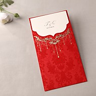 Royal Luxury Z-fold Wedding Invitation In Red (Set of 50)
