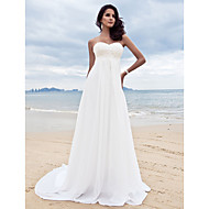 Lanting Bride A-line Petite / Plus Sizes Wedding Dress-Court Train Sweetheart Chiffon