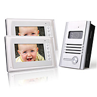 Two 7 Inch Color TFT LCD Video Door Phone Intercom System (1 Alloy Camera)