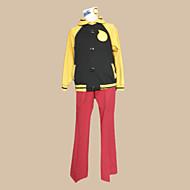 Inspirado por Comedor de almas Black Star Animé Disfraces de cosplay Trajes Cosplay Bloques Negro / Rojo / Amarillo Manga LargaAbrigo /