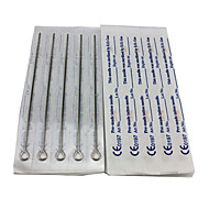 50PCS Sterile Stainless Steel Tattoo Needles 25 7M2 25 9M1
