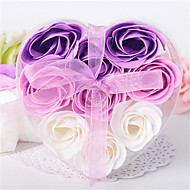 9 Pieces Rose Soap Petals In Heart Shaped Box (Set of 4 Boxes)