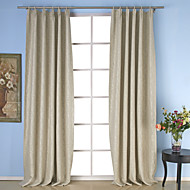Twee panelen Window Behandeling Neoklassiek , Effen Eetkamer Polyester Materiaal Curtains Drapes Huisdecoratie For Venster