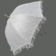 Boda Encaje Paraguas Mango de Gancho Aprox.83cm Plástico Aprox.100cm