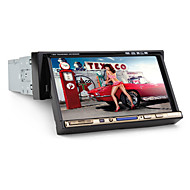 "7 ""1 DIN LCD touch screen in-dash bil dvd-afspiller med bluetooth, ipod, stereoradio, rds, ATV + frie bageste viwe kamera"