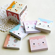 Kitty brique conçue faveur bloc-notes (lot de 5)