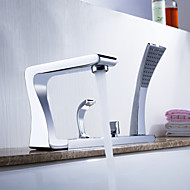 Sprinkle® Tub Faucets  ,  Art Deco / Retro  with  Chrome Two Handles Five Holes  ,  Feature  for Centerset / Pull out