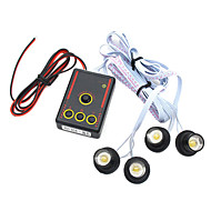 bil / motorsykkel hvit flash Nødvarslingssystemer LED lys, ledet 4