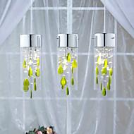 kunstneriske krystallhalssmykke lyser med grønn pynt G4 pære basen