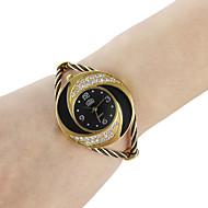 아가씨들 패션 시계 팔찌 시계 석영 합금 밴드 스파클 뱅글 블랙 화이트 블루 레드 핑크 퍼플