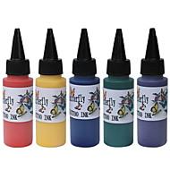 de haute qualité 60ml d'encre de tatouage de couleurs primaires 5x