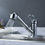 Sprinkle® Kitchen Faucets  ,  Transitional  with  Chrome Single Handle One Hole  ,  Feature  for Centerset / Pull out