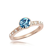 Women's Rose Gold Plated Ring Crystal Rose Gold Plated