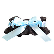 Garter Lace / Polyester Bowknot Black
