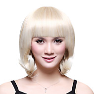 Sin tapa corto sintético de grado superior japonesa Kanekalon linda peluca completa explosión