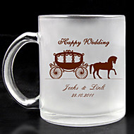 Personalized Frosted Glass - Carriage