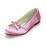 Women's Wedding Shoes Comfort/Ballerina Flats Wedding Black/Blue/Pink/Red/Ivory/White/Silver